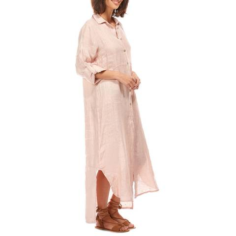 LIN PASSION Rose Buttoned Maxi Linen Dress