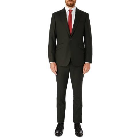 Hackett London Dark Green Mayfair Slim Wool Suit