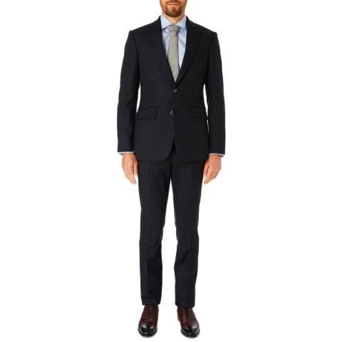 Hackett London Navy Mayfair Tailored Wool Suit