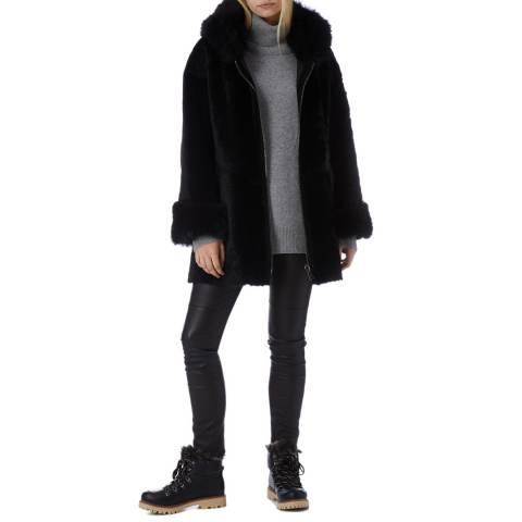 N°· Eleven Black Shearling Reversible Parka
