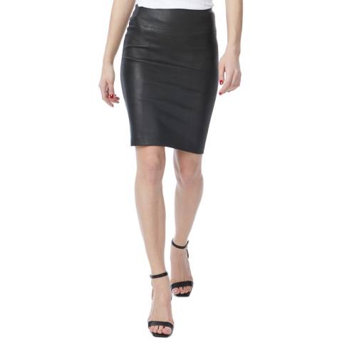 N°· Eleven Black Leather Skirt