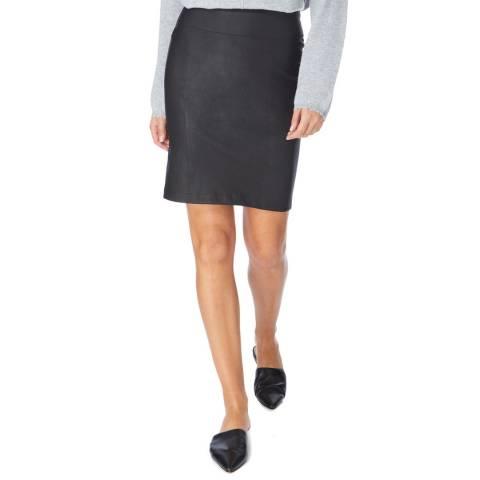 N°· Eleven Black Leather Skirt