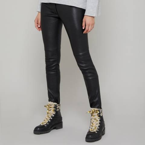 N°· Eleven Black Leather Trousers