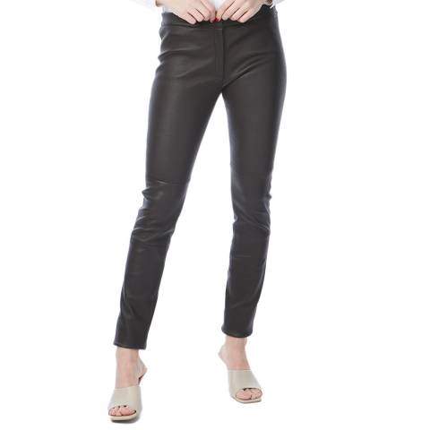 N°· Eleven Brown Leather Trousers