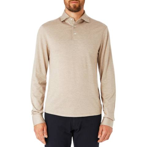 Hackett London Stone Mayfair Slim Long Sleeve Polo Shirt
