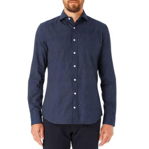 Hackett London Navy/Blue Circle Cotton Shirt