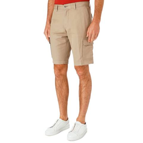 Hackett London Natural Cargo Cotton/Linen Shorts