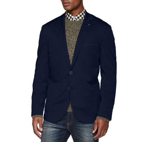 Hackett London Navy Stretch Cotton Jacket