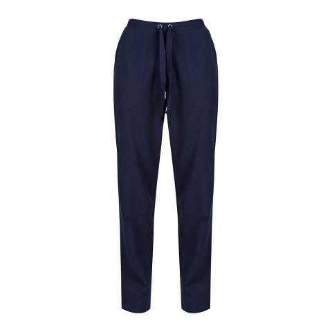 Regatta Navy Linen Trousers