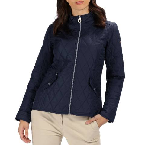 Regatta Navy Cressida Baffled/Quilted Jacket