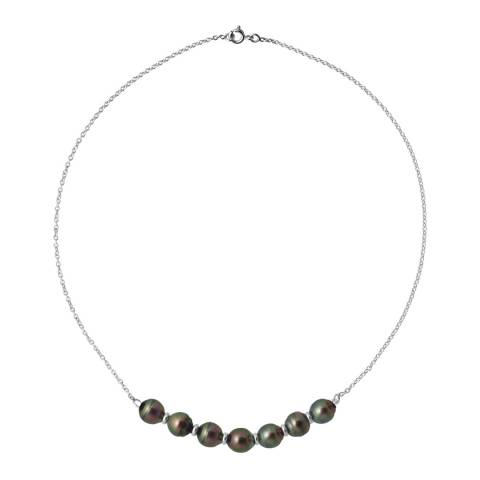 Atelier Pearls White Gold Tahiti Circled Pearls Necklace 8-9mm