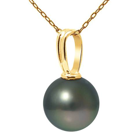 Ateliers Saint Germain Yellow Gold Round Pearl Beliere Pendant 10-11mm