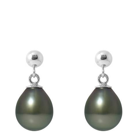 Ateliers Saint Germain White Gold Tahiti Pear Pearl Earrings 8-9mm