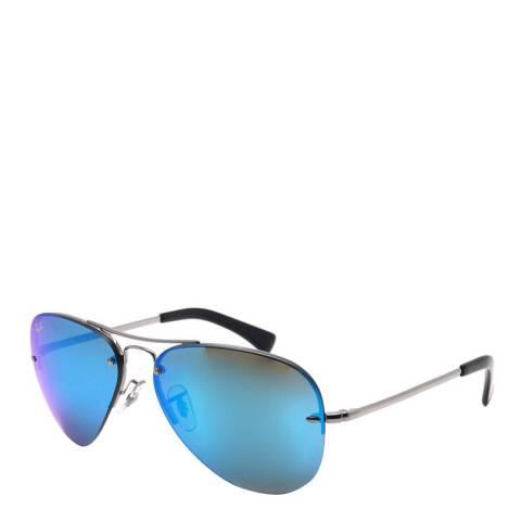 Ray-Ban Womens Blue Mirror Ray-Ban Aviator Sunglasses 59mm