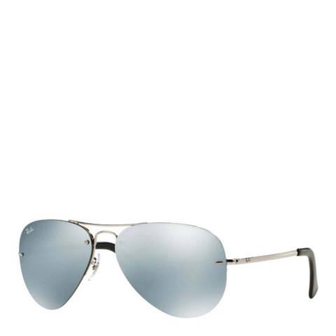 Ray-Ban Womens Silver Ray-Ban Aviator Sunglasses 59mm