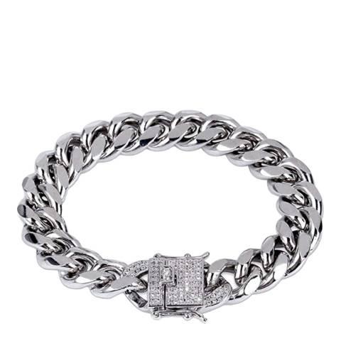 Stephen Oliver Silver Link CZ Bracelet