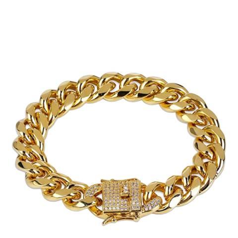 Stephen Oliver 18K Gold Link CZ Bracelet