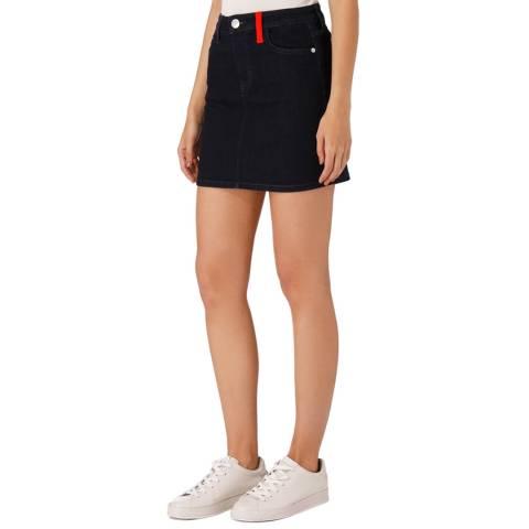 Current Elliott Dark Blue Fitted Mini Skirt