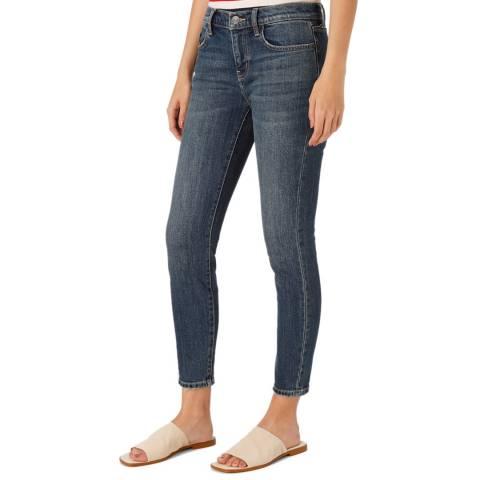 Current Elliott Blue Mid Rise Stiletto Jean