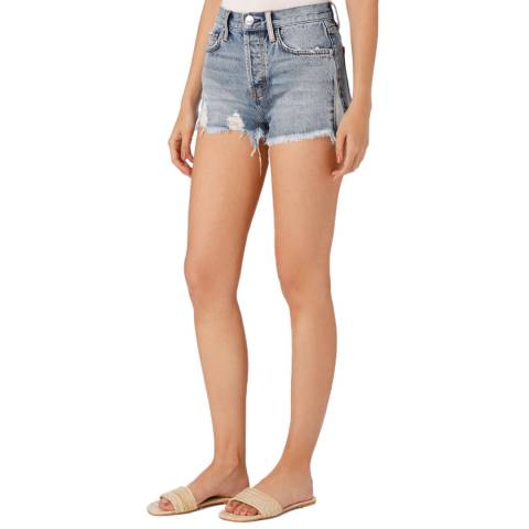 Current Elliott Blue Ultra High Waisted Shorts