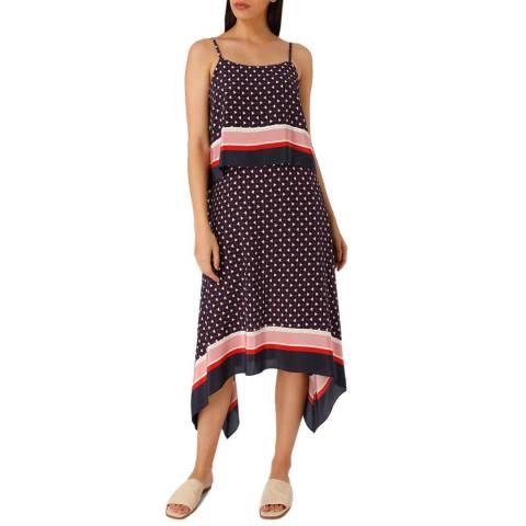 Joie Dark Navy Seia Silk Dress