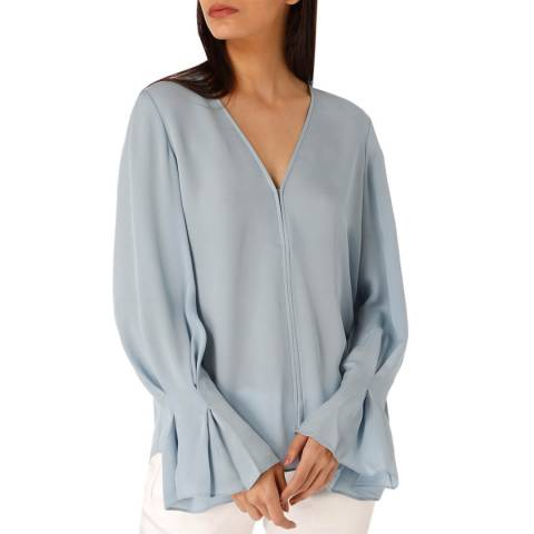 Joie Blue Latacia Silk Top