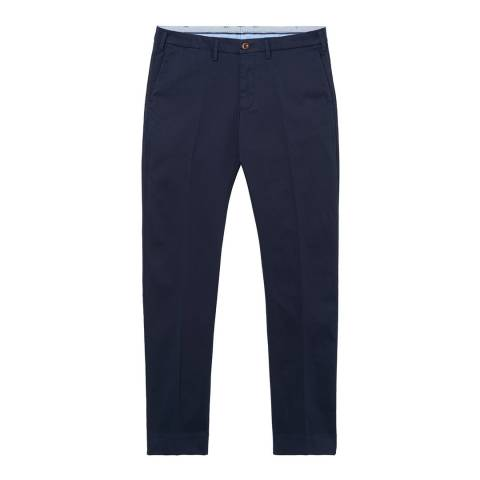 Gant Navy Slim Tailored Satin Slacks