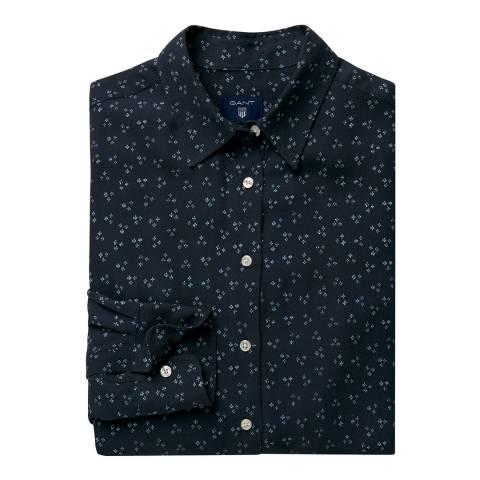 Gant Evening Blue Donegal Flower Shirt
