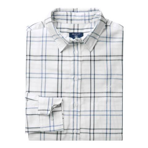 Gant Eggshell Checked Flannel Shirt