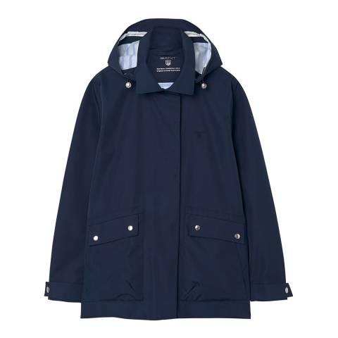 Gant Blue Rough Weather Slicker Jacket