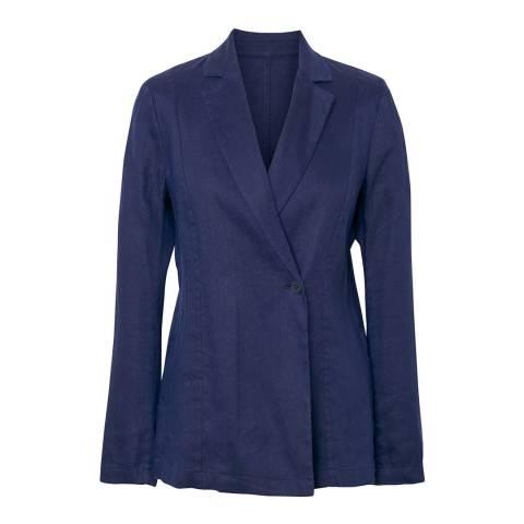 Gant Classic Blue Linen Viscose Blazer