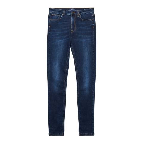 Gant Dark Indigo Slim High Waist Jeans