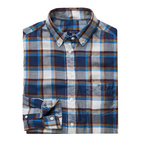 Gant Blue Light Flannel Check Shirt