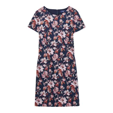 Gant Navy Aquarella Blossom Dress