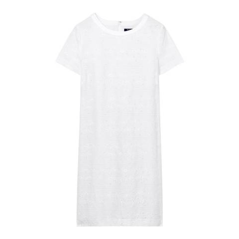 Gant White Broiderie Anglaise Dress