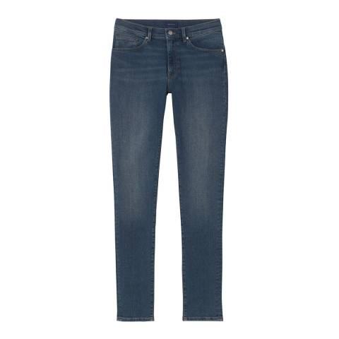 Gant Mid Blue Skinny Super Stretch Jeans
