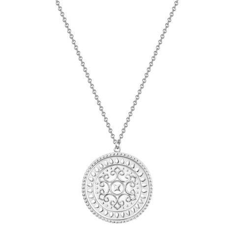 Clara Copenhagen Silver Coin Pendant Necklace