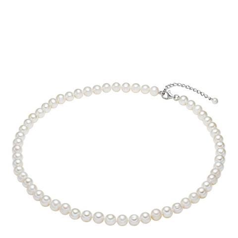 Clara Copenhagen White Freshwater Pearl Necklace 7-8mm