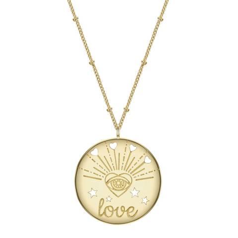 Clara Copenhagen Yellow Gold Love Pendant Necklace