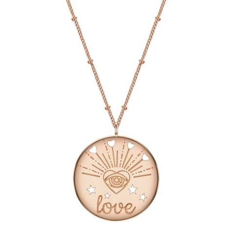 Clara Copenhagen Rose Gold Love Pendant Necklace
