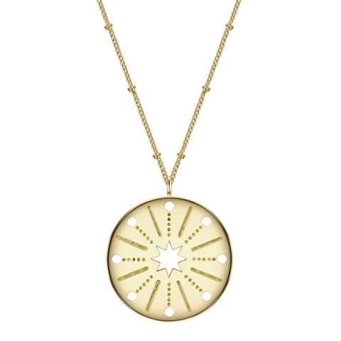 Clara Copenhagen Yellow Gold Sterne Pendant Necklace