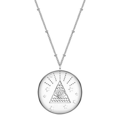 Clara Copenhagen Silver All Seeing Eye Pendant Necklace