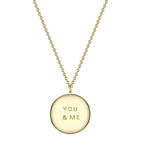 Clara Copenhagen Yellow Gold You & Me Pendant Necklace