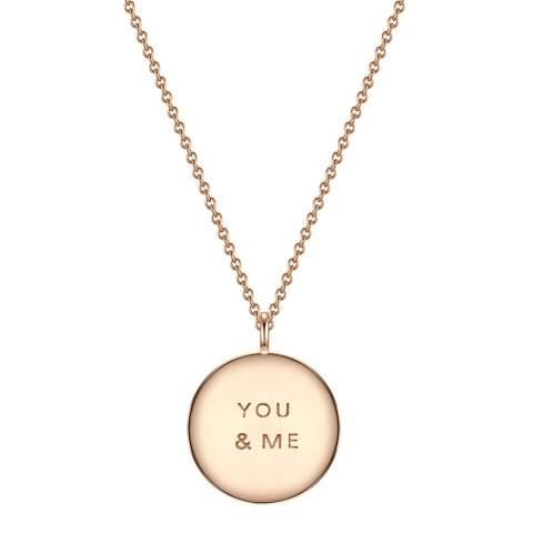 Clara Copenhagen Rose Gold You & Me Pendant Necklace
