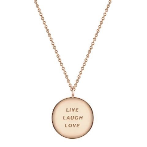 Clara Copenhagen Rose Gold Live Laugh Love Pendant Necklace