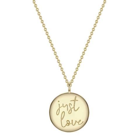 Clara Copenhagen Yellow Gold Just Love Pendant Necklace