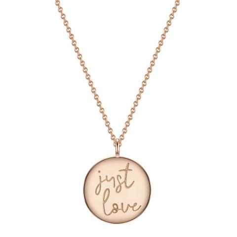 Clara Copenhagen Rose Gold Just Love Pendant Necklace