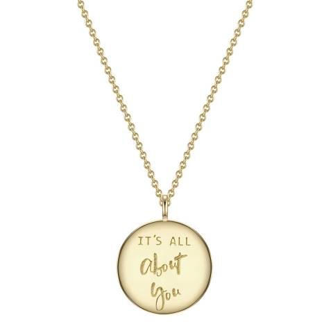 Clara Copenhagen Yellow Gold It's All About You Pendant Necklace