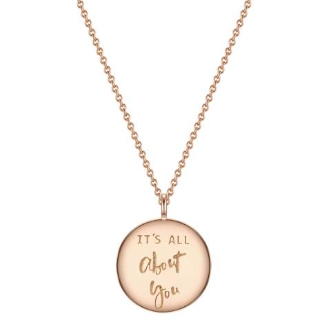 Clara Copenhagen Rose Gold It's All About You Pendant Necklace