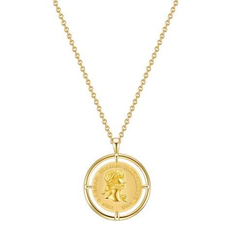 Clara Copenhagen Yellow Gold Circle Pendant Necklace